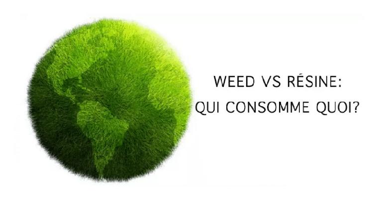 Résine vs. herbe, quel pays consomme quoi ? 1