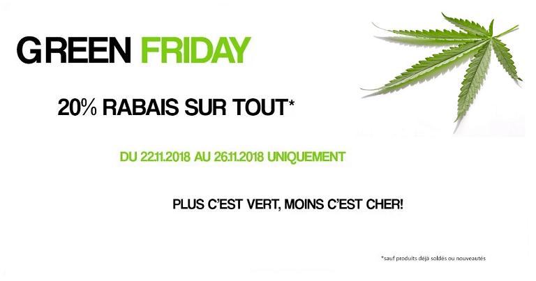 GREEN FRIDAY: 20% DE RABAIS SUR TOUT 1
