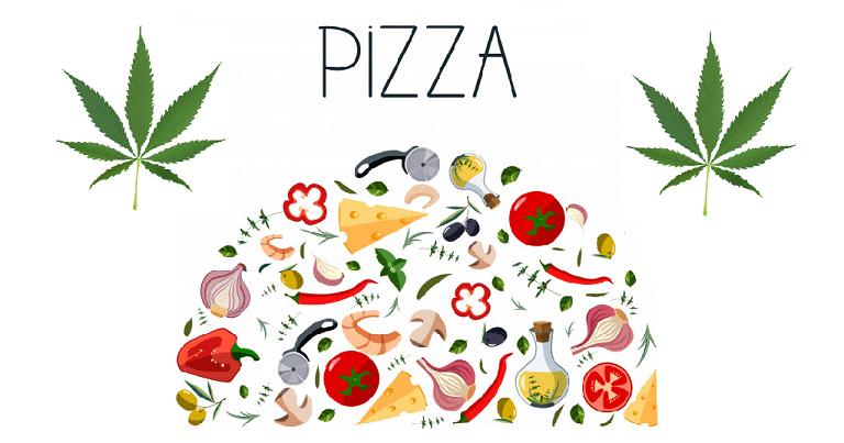 pizza au THC