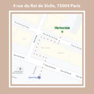 Herborisia Paris : 4 rue du Roi de Sicile (75004)